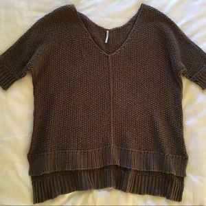 Free People short sleeve chunky knit sweater,sz M